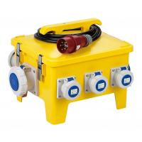 Quality Yellow Mobile Portable Electrical Distribution BoxShock Resistant PE Enclosure for sale