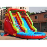 China Red Commercial Grade Inflatable Bounce House Water Slide for Residential wholesale