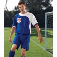 Quality Rmoisture Wicking Mesh Cool Soccer Jerseys / Polyester 150gsm Sports Uniforms for sale