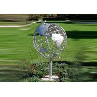 Buy Decorative Stainless Steel Sculpture With Semi - Meridian Globe Shape at wholesale prices