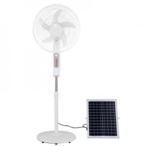 Quality Aluminum 24000mah 20w Portable Solar Floor Fan 1A Adapter for sale