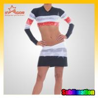 Quality Full Sublimation College Cheerleading Uniforms Girls Cheerleader Costume for sale