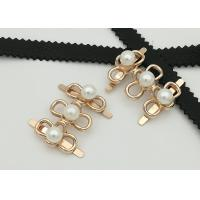 Quality Big Pearl Zinc Alloy Buckle 35*2MM 5.3g Easy To Assemble Environmental Plated for sale