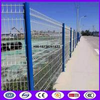 Quality Peach Shape tube post with Triangle Bending Panel from China as fence application for sale