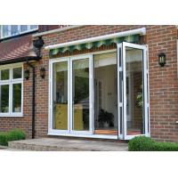Quality Large Modern Aluminium Double Glazed Bi Fold Doors Size Customized Windproof for sale