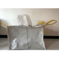 Quality Square Flat Bottom Anti Static Bulk Bags Filling Spout Top / Full Open Top for sale