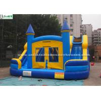 Quality Commercial Kids Water Inflatable Bounce Houses With Slides N Pool for sale