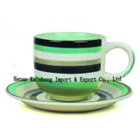 Quality Oversized colorful handpainted ceramic tea cup and saucer set wholesale for sale