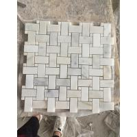 Quality CALACATTA GOLD MARBLE POLISHED & BEVELED BRICK MOSAIC TILE CALACATTA GOLD MARBLE MOSAIC  WALL & FLOOR TILE for sale