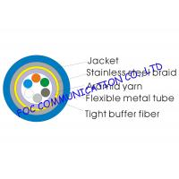 Quality 6Core Armored Optic Fiber Cable Tight Buffer Metal Tube and Metal Braid for sale