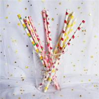 Quality Customized Printing Colored Paper Straws , Patterned Drinking Straws For Party for sale