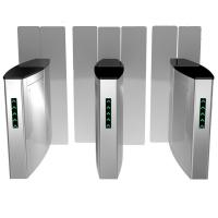 Quality Stailess Steel Sliding Turnstile Security Systems, High Speed Gates Flap Barrier for sale