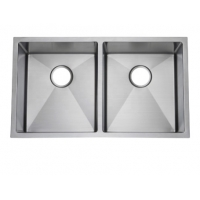 Quality Best Stainless Steel Undermount Kitchen Sinks  5050 Double Bowl Brushed Stainless Steel Kitchen Sink for sale