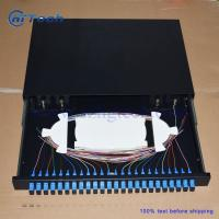 Buy cheap 19inch 1u 24 Port Fiber Optic Patch Panel Sliding Type from wholesalers
