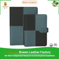 China BWB-1-B A5/B5 size leather 6-ring binder/folder with custom LOGO on sale
