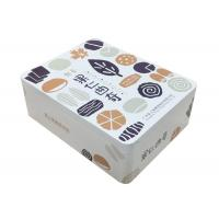 Quality 4 Color Print Personalised Biscuit Tins , Rectangle Metal Tin With Shiny Coating for sale