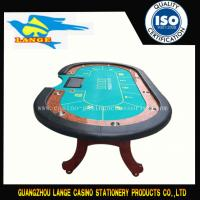 China Professional Texas Poker Table Cloth Green Waterproof Durable H Leg Design wholesale