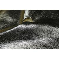 Quality Cloth Fabric Faux Leather Material 0.6mm Untearable In Mettalic Gold Color for sale