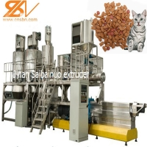 Quality Cat Food Making Machine , Pet Feed Pellet Machine Siemens Motor for sale