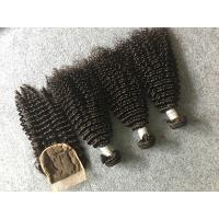 Quality Safe Peruvian 8A Virgin Hair Kinky Curly Hair Bundles With 4x4 Kinky Curly Closure for sale