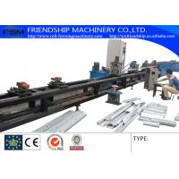 GCr15 1.0-3.0mm Thickness C Z Purlin Roll Forming Machine Automatic Punching Holes With 17 Forming Stations