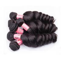 Quality Black Women Use Double Virgin Remy Human Hair Weaving / Real Human Hair for sale