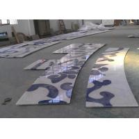 Quality Blue White Stripe Jade Granite Countertop Wall Antique Pattern for sale