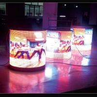 Quality Media Advertising Cylindrical LED Display Super Wide Viewing Angle For Shopping Mall for sale