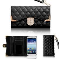China Luxury Leather Wallet Samsung Galaxy Phone Covers , Galaxy S3 S5 Case on sale