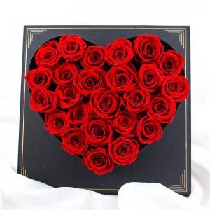 China Forever Luxury Preserved Roses , Flower Heart Box For Wedding Gift on sale