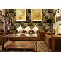 China 3D Wood Printing PVC Material Living Room Decoration Wallpaper For 0.53*10M wholesale