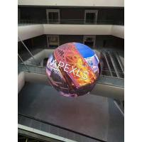 Quality Spherical Flexible Led Display Screen P10 Full Color Curved 1R1G1B For Advertising for sale