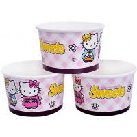 Quality 8oz 12oz Custom Printed Ice Cream Containers , Disposable Ice Cream Bowls for sale