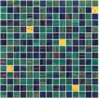 Garden green color with gold line glass mosaic mix pattern paper and mesh