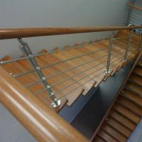 Quality 304 316 Grade Sainless Steel / Inox Square Pipe Railing for Home Stair for sale