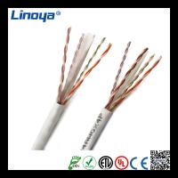 China Linoya utp cat 6 lan cable connect network 1000ft fluke test copper conducter wholesale