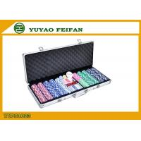 China High Value Beautiful 500 Piece Poker Chips Sets For Gambling / Home wholesale