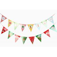 Quality Christmas Flags , Bunting Flags For Decoration for sale