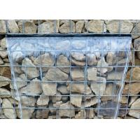 Quality Hexagonal Or Square Galfan Gabion Baskets / Gabion Stone Cages For Decorative for sale