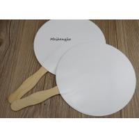 Quality Creative White hard paper Japanese wood Hand Fan Folk Art Style With Erasable Surface for sale