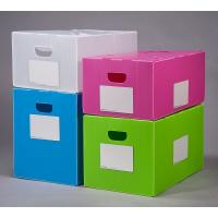 China Polypropylene pp Corrugated Plastic Foldable Moving Box Plastic handle corrugated paper packing box on sale