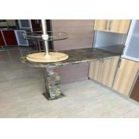 Residencial Green Granite Countertops Kitchen Sink Countertop Top / Edges Polished