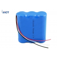 Quality 1S3P 3.7V 7500mAh 18650 Rechargeable Lithium Battery For Fascia Gun for sale