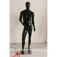 China Jolly mannequins- Stock black glossy male mannequins full body mannequins with standing pose M-103C on sale