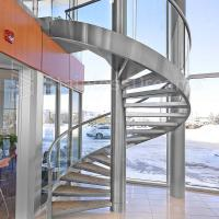 Quality Modern Outdoor Steel Staircase Design Galvanized Spiral Staircase for sale