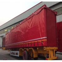 China UV Protection Mesh Truck Tarps Flexible For Heavy Duty Truck 300-900gsm Weight on sale