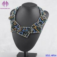 Quality Fashion color crystal geometry bib statement necklace for sale