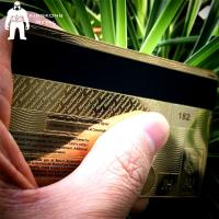 Buy Laser Cut Anodized Gold Business Cards With Mirror On Back 0.3mm 0.5mm Thickness at wholesale prices