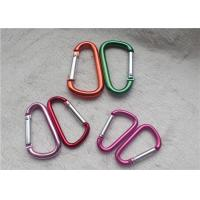 Quality Small Personalized Promotional Gifts Carabiner Multiple Colors D - Shaped Mountaineering Buckle Metal Key Holder for sale