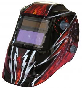 Quality Custom LCD Auto Tinting Welding Helmet , Metal Man Auto Darkening Welding Mask for sale